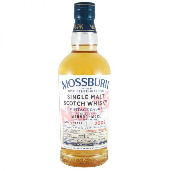 Mossburn Vintage Cask No. 16 Mannochmore 2008 Aged 10 Years Cask Strength 56,1% Vol.