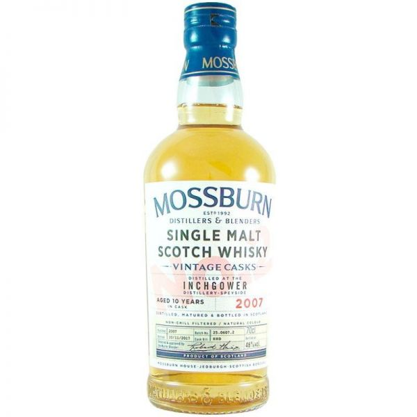 Mossburn Vintage Cask No. 2 Inchgower 2007 Aged 10 Years 46% Vol.